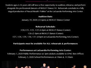 Opportunity for Students to Dance with RIOULT Dance New York