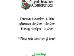 Parent Teacher Conferences - Thursday, November 15, 2019