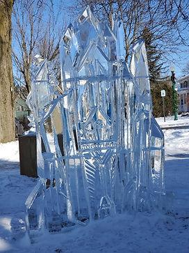 Dexter Ice Fest - Castle Ice Sculpture