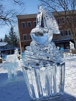 Dexter Ice Fest - Cupcake Ice Sculpture