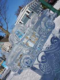 Dexter Ice Fest - Car Ice Sculpture