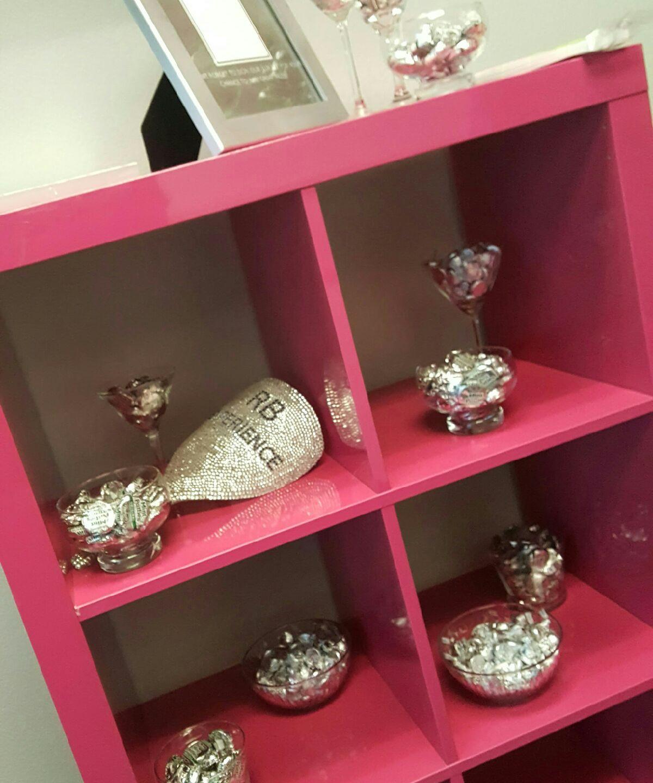 Pink and Platinum decor