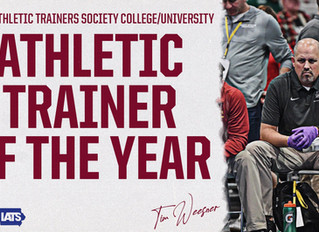 Tim Weesner Named Iowa Athletic Trainers' Society College/University AT of the Year