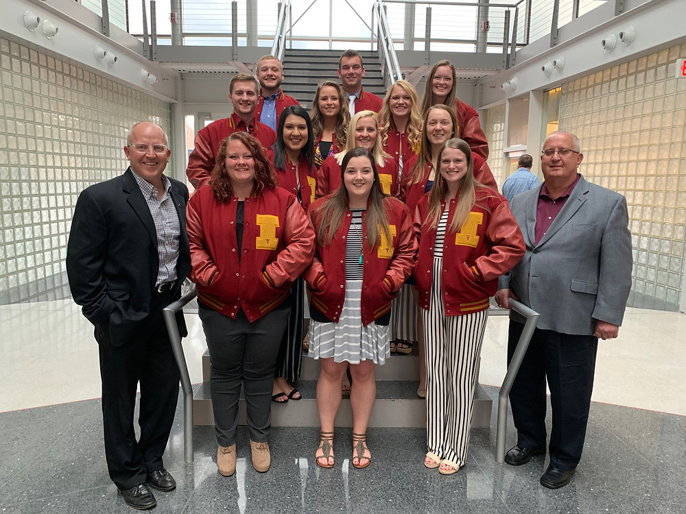 Iowa State Athletic Training Letterwinners with Mark Coberley and Pete Carlon