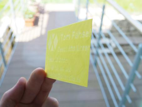 Visitenkarten im 3D Druck