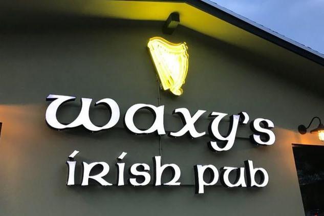 Waxy's Irish pub sign