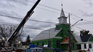 Adding the steeple