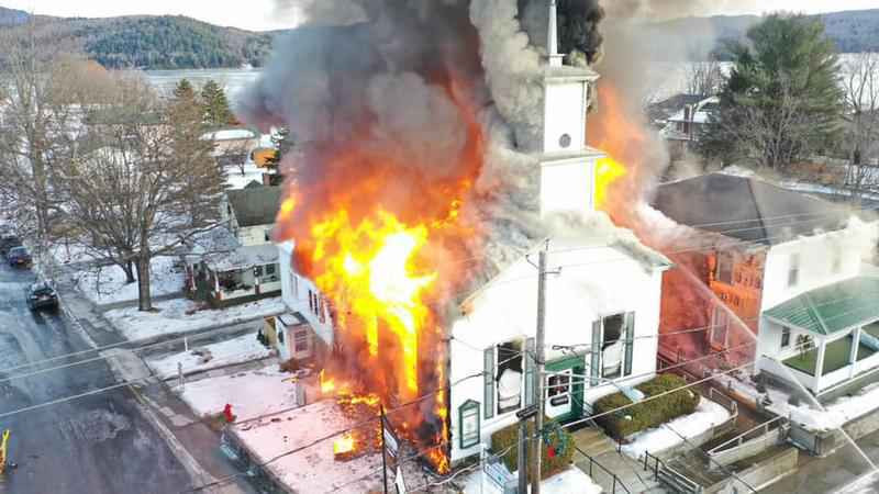 Schroon-Lake-Fire Jan. 2, 2019
