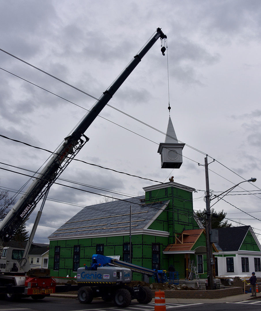 Placing the Steeple