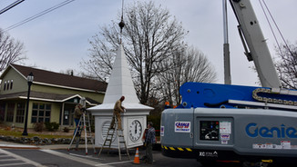 The new steeple