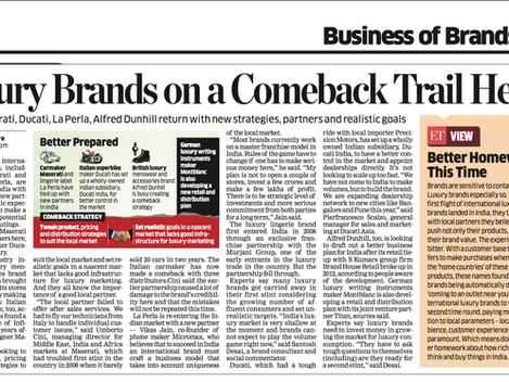 Luxury Brands Arrive in India