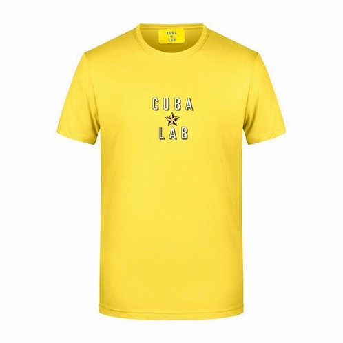 Cuba Lab Logo T-Shirt - Yellow