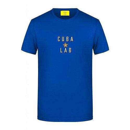 Cuba Lab Logo T-shirt - Blu