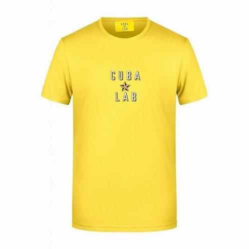 Cuba Lab Logo T-shirt - Yellow