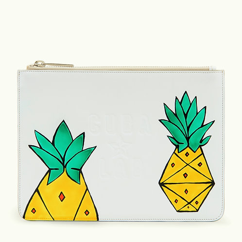"Leather Bag ""Piña Blanca"""