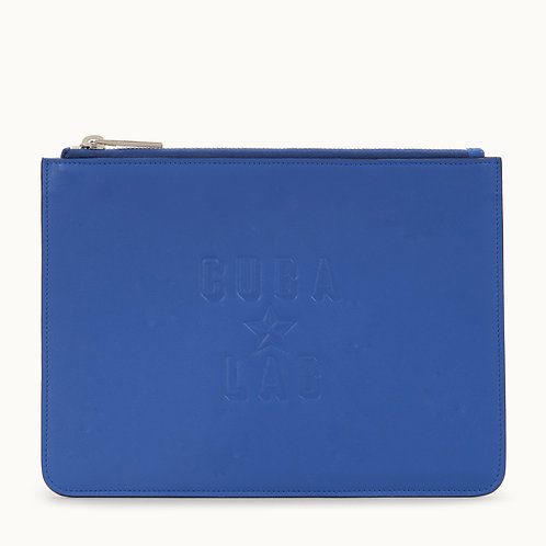 Leather Bag - Blu Royal