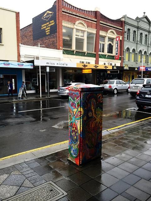 Трансформаторные будки, уличный дизайн, Лонсетон — Тасмания 2017 — Блог о путешествиях Сергея Чеботова