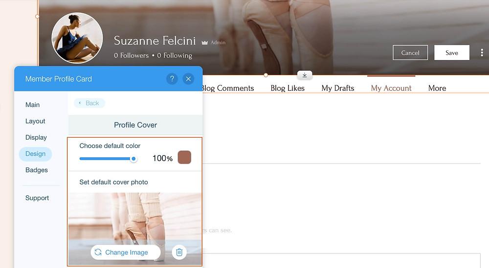Новый макет для карточки профиля | wix2b – сайты для бизнеса