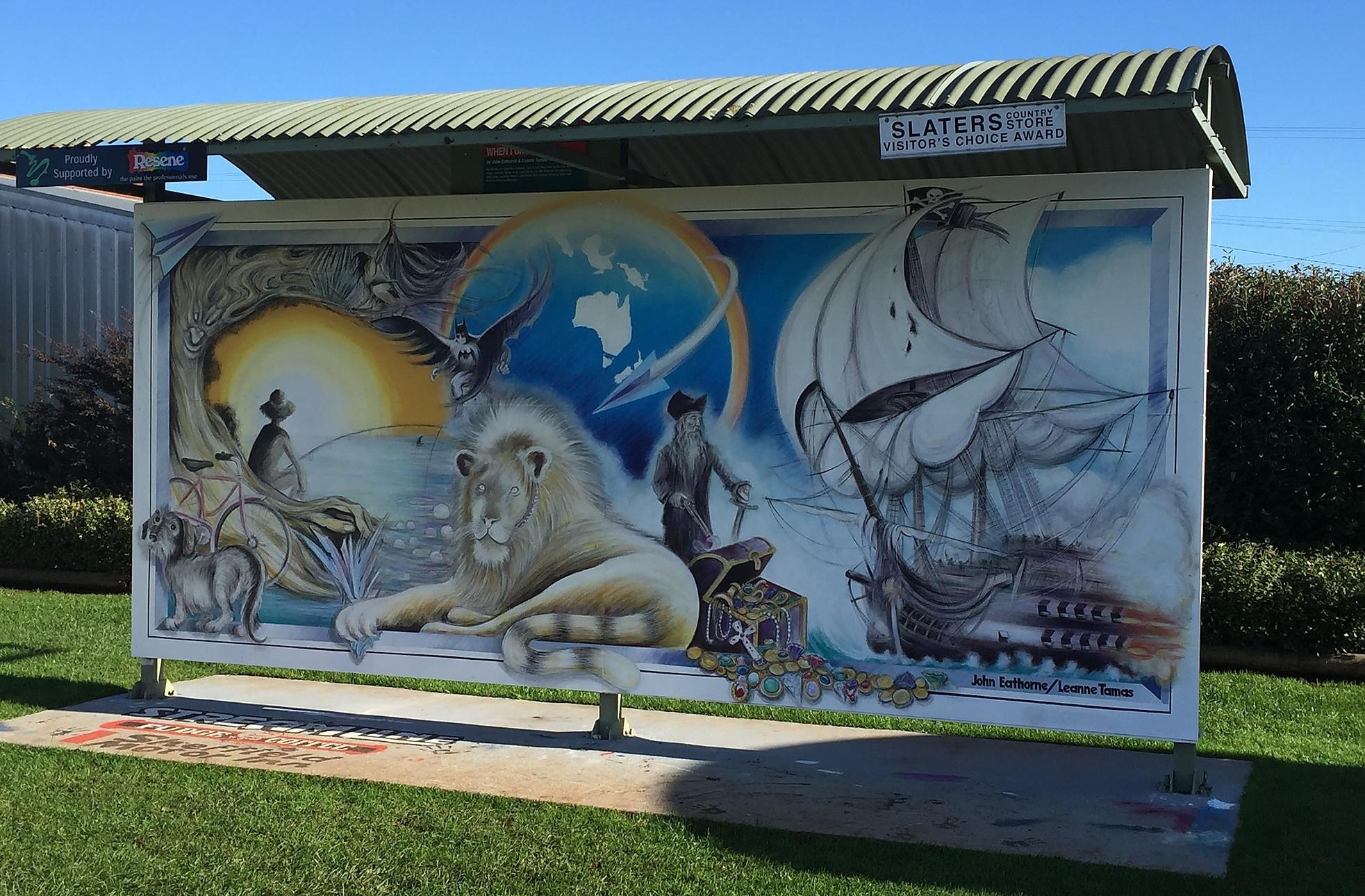 Шеффилд, выставка фресок — Тасмания 2017 — Блог о путешествиях Сергея Чеботова