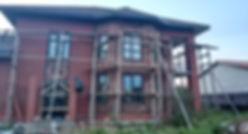 Облицовка фасада натуралным камнем – п. Коммуар — Polestar