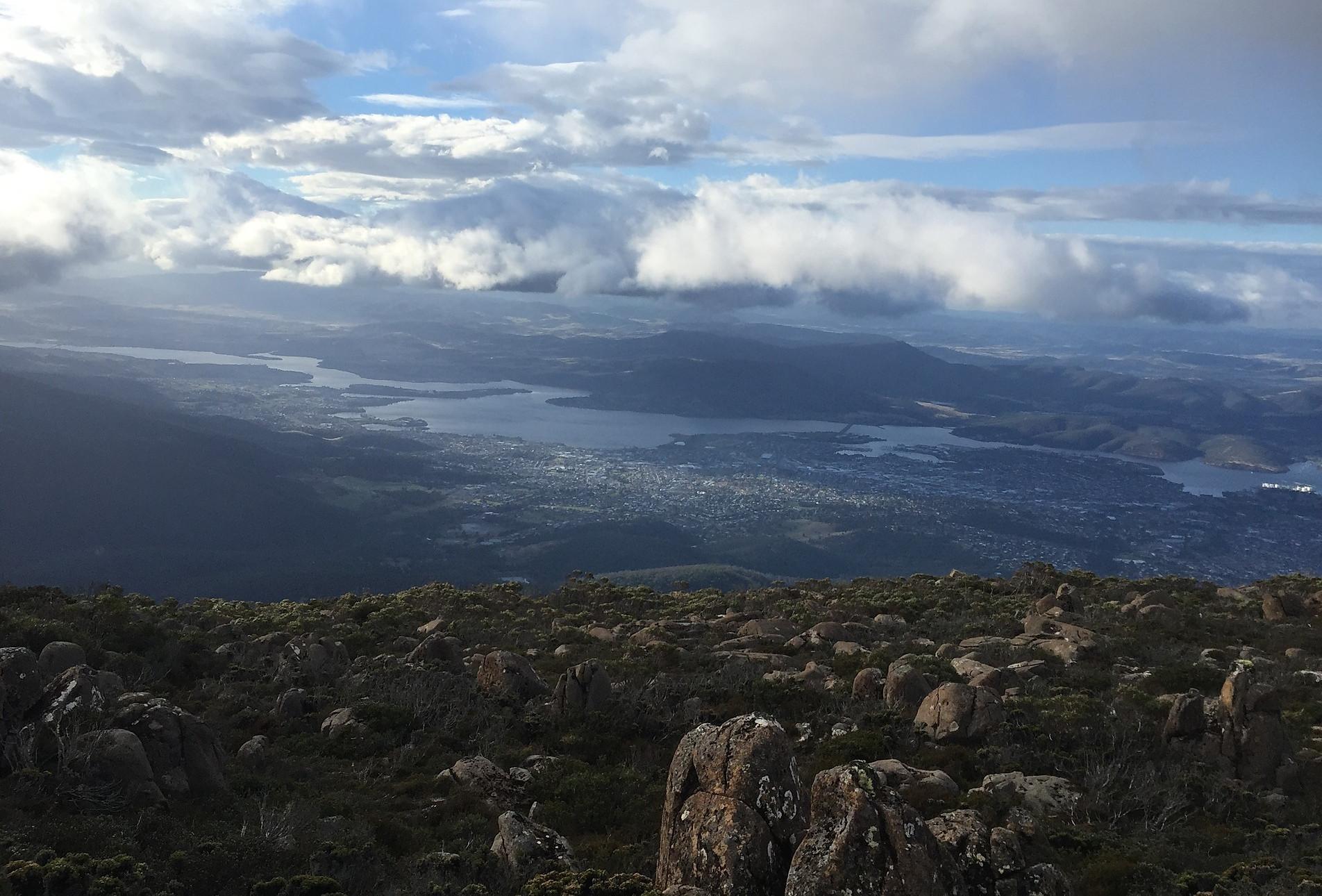 Вид на Хобарт с горы Веллингтон— Тасмания 2017 — Блог о путешествиях Сергея Чеботова