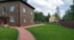 Мощение тротуарного клинкера, озеленения участка — п. Дони — Polestar