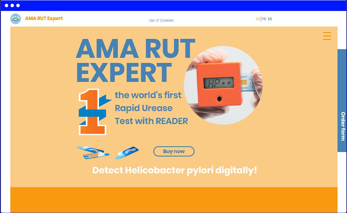 Английская версия сайта amarut.pro
