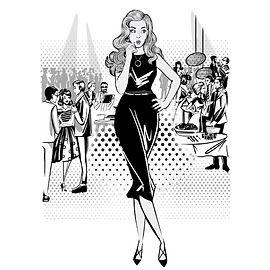комикс скетчи гостей мероприятий