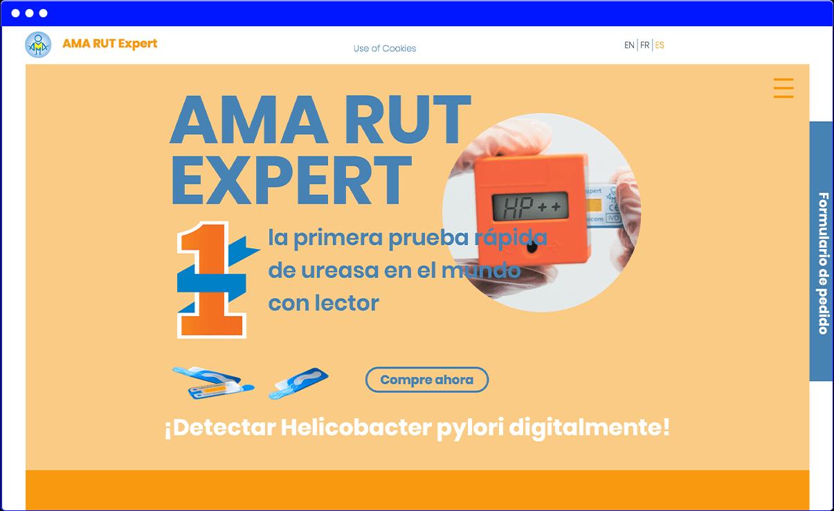 Испанская версия лендинга на Wix — amarut.pro