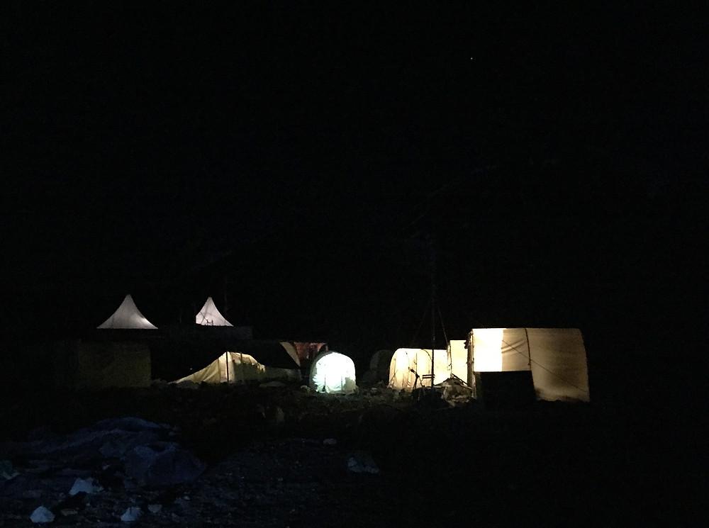 Ночь в лагере 1 под пиком Ленина  | skitour.club | Блог Сергея Чеботова