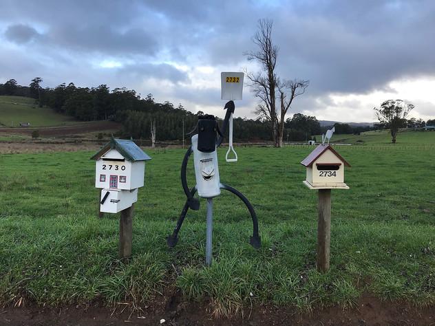 Почтовые ящики вдоль шоссе С 132 — Тасмания 2018 — Блог о путешествиях Сергея Чеботова