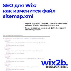 SEO для Wix: как изменится файл sitemap.xml