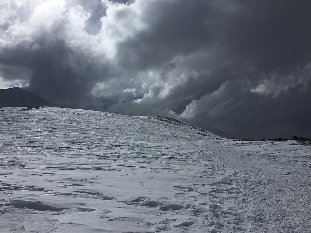 Спуск с вершины Пика Ленина | skitour.club | Блог Сергея Чеботова