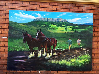 Шеффилд, фрески, уличные картины — Тасмания 2017 — Блог о путешествиях Сергея Чеботова