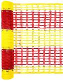 Разграничительный барьер красно желтый, сетка красно-желтая
