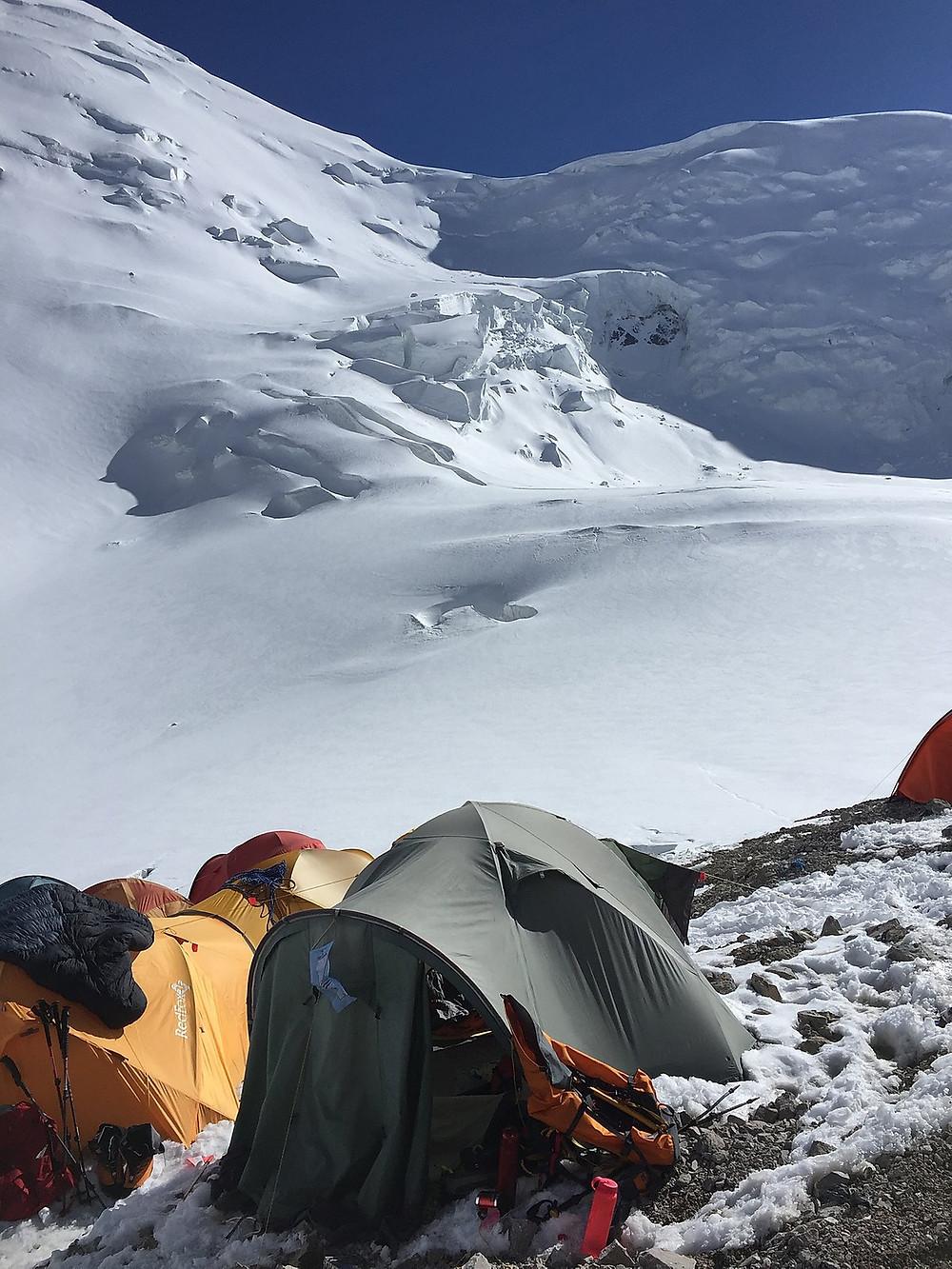 Моя платка во втором лагере | skitour.club | Блог Сергея Чеботова