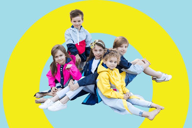 Детские непромокаемые куртки и плащи POLYANKA
