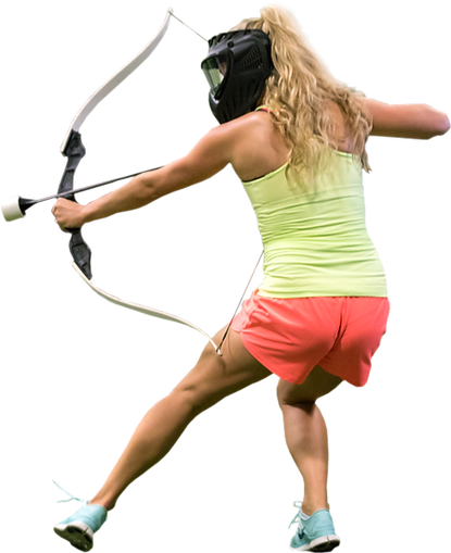 Archery Games Woman Playing