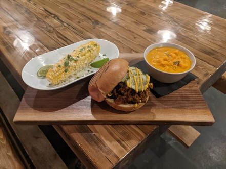 Mexican Street Corn + Bacon Cheeseburger sloppy Joe + Sweet Potato Curry Soup