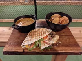 Philly Quesadilla + Taco Soup + Mandolin Chops