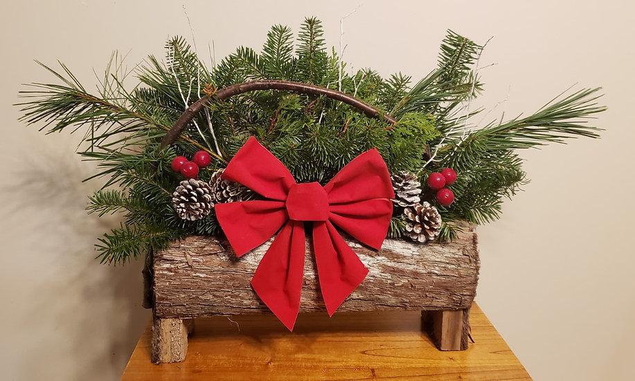 Maine Cedar Log Basket