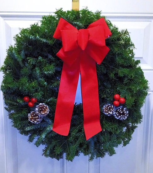 Maine Traditional Balsam Wreath (Free shipping!)