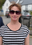 Gillian Beattie with sunglasses