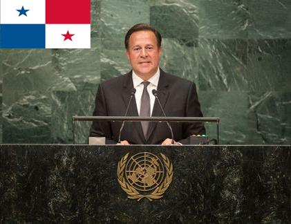 President of Panamá and Human Rights Ambassador, Juan Carlos Varela Rodriguez