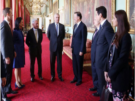 HRH Prince Andrew meets Mr Tuffney at the Ambassadors residence in Panamá