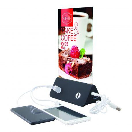 Porte-menu chargeur de téléphones
