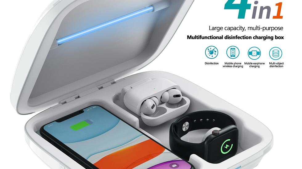 4 en 1 station de charge et stérilisateur de mobile, montre connecter, AirPods,