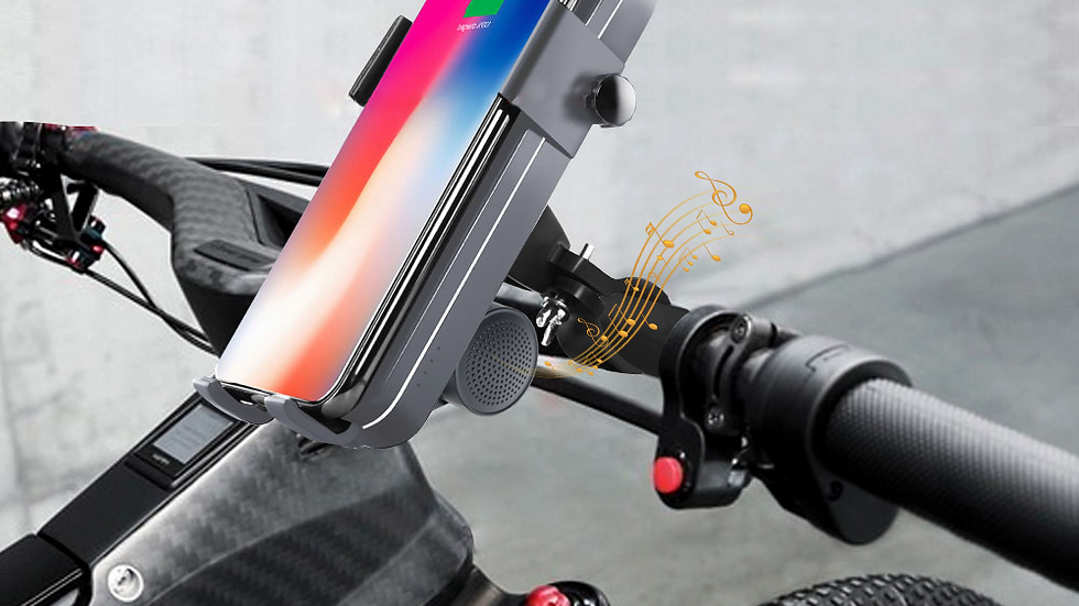 support smartphone pour 2 roues, Recharge et speaker