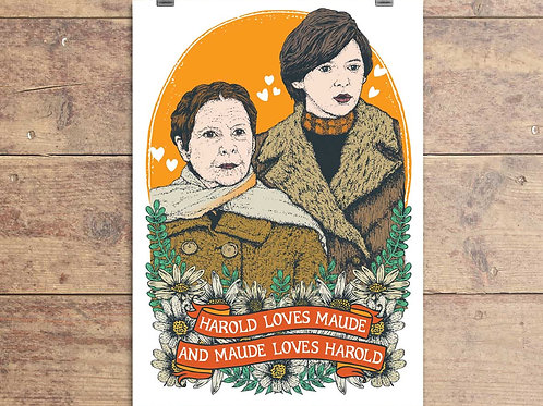 Harold and Maude Film Movie Greeting Card