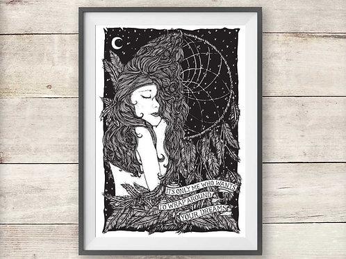 Fleetwood Mac Dreams Lyric Print
